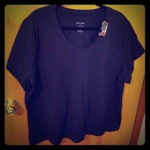NWT Mossimo 2X Women's Plus Black TShirt